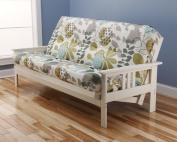 Victoria Futon Sofa Bed White Frame W/garden Premium Mattress