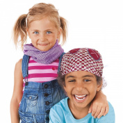 Haba Lassig Twister Sweat Wicking Multi Use Scarf Hairband and Headband, Multistripe Colour