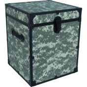 Mercury Luggage Seward Trunk 50cm Footlocker, Camo - Bedroom Furniture Enclosed Storage Container Personal Belonging Organiser