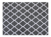 Chesapeake Merchandising 1.5m by 2.1m Flatweave Area Rug Moroccan Design in Grey and White