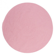 Boca Raton Polypropylene Braided Round Rug, 1.8m, Light Pink