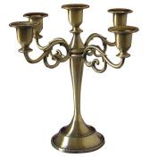 KINGFOM™ Antique Style Metal Pillar Candelabra Wedding Gift Centrepiece Chic Decor Candle Holders Bronze