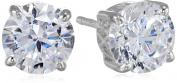 Charles Winston, Cubic Zirconia 6.5mm Round 2.00cttw Dew Stud Earrings