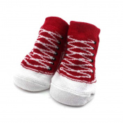 Child Toddler Shoes Printing Baby Socks Cute Cotton Footwear Keep Warm Red