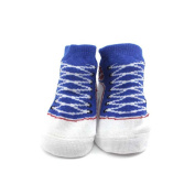 Child Toddler Shoes Printing Baby Socks Cute Cotton Footwear Keep Warm Blue