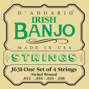 D'Addario J63i Irish Tenor Banjo Strings, Nickel, 9-30