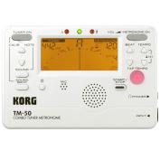 Korg TM50PW Instrument Tuner and Metronome, White