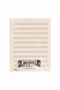 Archives Double-Folded Manuscript Paper Sheets, 10 stave, 24 Sheets