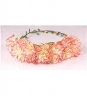 Boho flower head garland flower garland floral headdress festiva wedding (large peach flowers)
