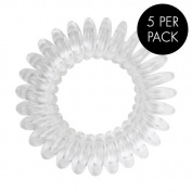 Magi Hair Bobble Traceless Hair Ring And Bracelet - Clear Invisible Hair Bobble Pack of 5, Pain Free Hair Band, Reduces Split Ends