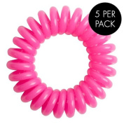Magi Hair Bobble Traceless Hair Ring And Bracelet - Pink Invisible Hair Bobble Pack of 5, Pain Free Hair Band, Reduces Split Ends