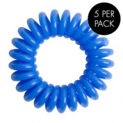 Magi Hair Bobble Traceless Hair Ring And Bracelet - Blue Invisible Hair Bobble Pack of 5, Pain Free Hair Band, Reduces Split Ends