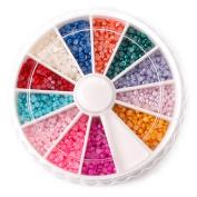 Nail Art Half Round Rhinestone Decoration Wheel