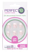 Eylure Perfect 10 Decorated French Nails, French Sparkle