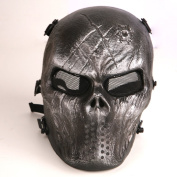 Tactical Airsoft Full Face Protection Mask Hunting Shooting Iron