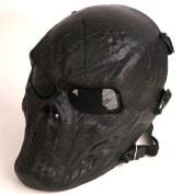 Tactical Airsoft Full Face Protection Mask Hunting Shooting Black