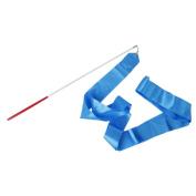 TOOGOO(R) Gym Dance Ribbon Rhythmic Gymnastic Streamer Rod Baton Twirling Chinese New Year Party - Blue