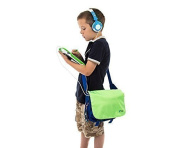 Ultimateaddons® Childrens Green Messenger Style Storage Bag suitable for vTech InnoTab Max Learning Tablet
