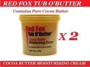 2 x RED FOX PURE COCOA BUTTER MOISTURISING CRÈME 310ml