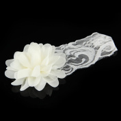 Brand New Baby Girl Toddler Lace Hair Band Hair Bow Accessories White Headwear