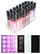 Acrylic Lip Gloss Organiser & Beauty Care Holder Provides 24 Space Storage | byAlegory