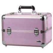 Blush Professional Large Pink Aluminium Cosmetics and Make-up Beauty Case