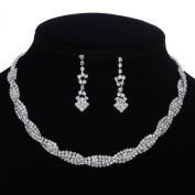 Clear Crystal Necklace and Earring Set