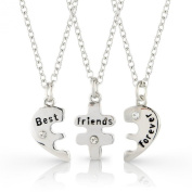 3 Bestfriends necklace set, Best Friends Forever three part necklace, friendship necklace includes beautiful gift bag for each necklace - 3 individual necklaces included