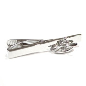 Canoe Tie Clip - Rhodium Plated - Gift boxed