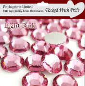 Pack of 1000 x Premium Quality Pink 5mm Crystal Flat Back Rhinestone Diamante Gems *Factory Sealed & Labelled*
