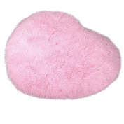 Heart-Shape Soft Fluffy Bedroom Rug Carpet Floor Mat Cover Decoration