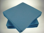 Pack of 50 Luxury Airlaid Powder Blue Napkins - Linen Feel