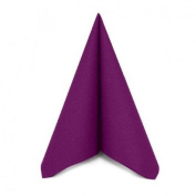 Pack of 50 Luxury Purple Airlaid Napkins - Linen Feel