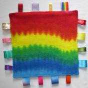 Baby taggie security comfort blanket -rainbow