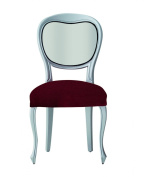 Eysa Polyester Acrylic Elastomer Elastic Dining Chair Covers, Pack of 6, Red