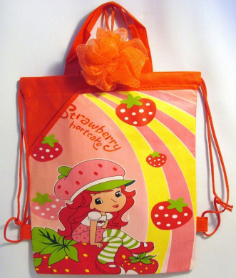 Bundle - 12 Items: Strawberry Shortcake Personal Care and Playtime Kit - 2-in-1 Body Wash & Shampoo, Shower Sponge, Lipgloss, Hair Barrettes, Toy Ring, Berry Beats Play Pack Grab & Go!, Jump Rope, Bank, Storage Container, and Reusable Drawstring Backpa ..