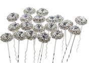Newstarfactory Blingbling U-sharped Metal Hair Pins Pack of 20