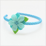Best of Chums Hair Accessories Petunia Dotted Head Band With Felt Flower