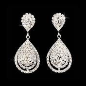 Genevieve - Beautiful Earring set, Bridal Wedding Jewellery, Dazzle ~ Crystal ~ Dangle ~ Fashionable 3D Earrings, Silver