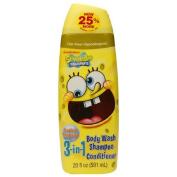 Spongebob SquarePants Tear-Free 3in1 Body Wash, Shampoo & Conditioner, Tropical Tangerine 590ml