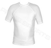 Prime Rash Guard Vest MMA Running Grappling UFC Top T Shirt Mens Boxing Gloves White Half Sleeve Small