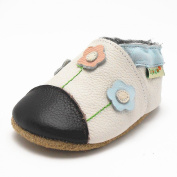 Sayoyo Baby Cute Little Flower Soft Sole Leather Infant Toddler Prewalker Shoes