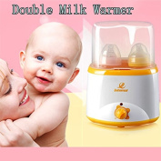 Internat Baby Product Electric Egg Boiler Double Bottle Food Milk Warmer w/UK plug