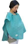 Poncho Baby Organic Nursing Cover, Oval Emerald Green, Emerald