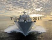 Littoral combat ship Fort Worth (LCS 3) conducting trials