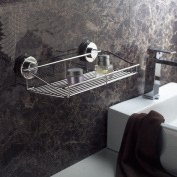 Toilets Rectangle Basket Aluminium Bathroom Sucker Shelf Commodity Shelf 35cm X 12cm
