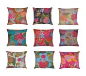 kantha Throw Cushion Case,Indian Home Decor Cushion Cover,India Decorative Cushion Cover,10Lot
