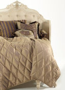 Michael Amini Charisma King Coverlet in Bronze by AICO