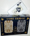 Guild Arc and Arrow Black & Gold Bridge Jumbo Index Playing Cards Plastic