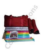 4 Colour Pushers And 4 Colour Racks + American Mah Jong Set Burgundy Red Bag 166 Tiles (Mah Jong Mah Jongg Mahjongg)By C & H Solutions